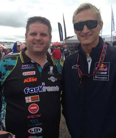 At British Motocross GP 2015 with Sami Hyypia