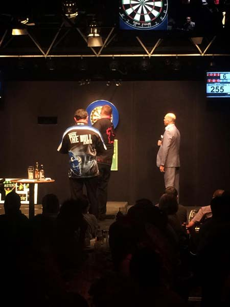 Scott Mitchell v Terry Jenkins at the Masters of Darts 2015 Circus Tavern