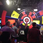 Last 32 - Players Introduction - Photo by Michelle Porter, Dorset Darts