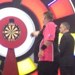 Last 32 v Craig Caldwell, Scott Throwing - Photo by Michelle Porter, Dorset Darts