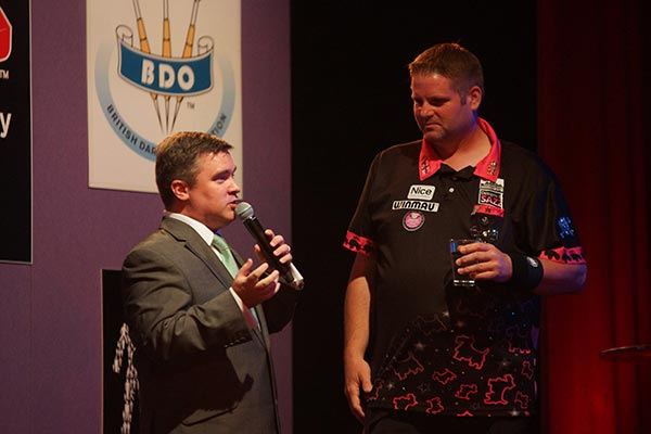 BDO World Trophy 2017 Darts - Scott Mitchell Interview with Richard Ashdown