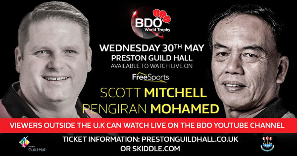 BDO World Trophy 2018 Darts - Scott Mitchell v Pengiran Mohamed