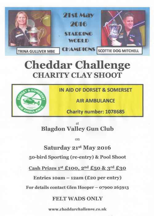 Cheddar Challenge Charity Clay Shoot Poster