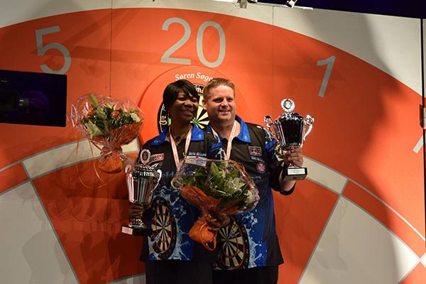 Denmark Open 2017 Darts - Singles Champions Scott Mitchell and Deta Hedman