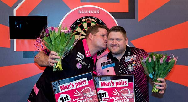 Dutch Open Men's Pairs Champions 2017 James Hurrell and Scott Mitchell 2017 Darts