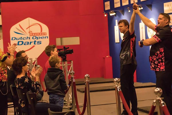 Dutch Open Men's Singles Quarter Finalists 2018 Richard Veenstra and Scott Mitchell Darts