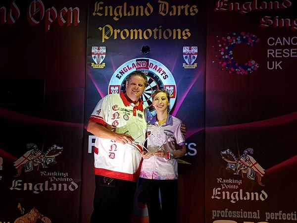 England National Singles 2018 Darts Champions - Scott Mitchell and Fallon Sherrock