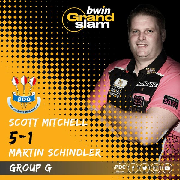 Grand Slam of Darts 2018 GSOD - Scott Mitchell v Martin Schindler