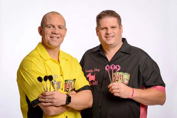 Let's Play Darts for Sports Relief featuring Mike Tindall and Scott Mitchell