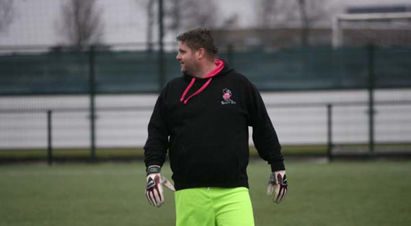 Mariflex Open 2014 - Scott Mitchell as England Goalkeeper in Football Match