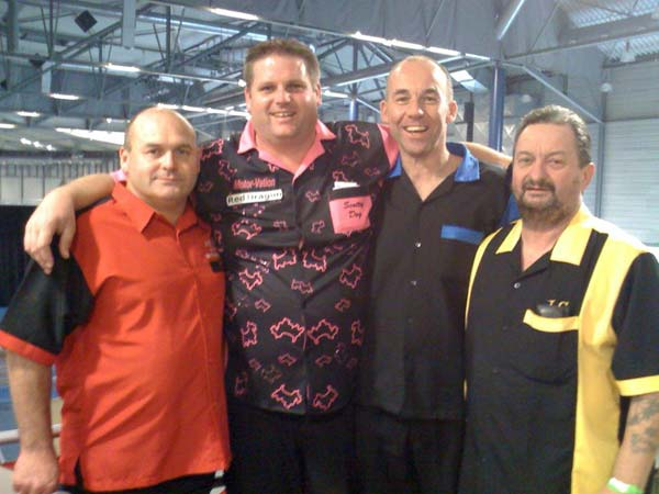 Top of Ghent 2011 Darts - Scott Mitchell with Dorset County Teammates Richard Perry, Mark Porter and John Clark