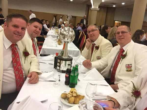 WDF Europe Cup 2018 Winners England Men at Dinner Darts