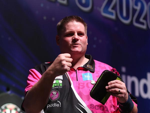 World Darts Championship 2020 - Scott Mitchell v Michael Unterbuchner