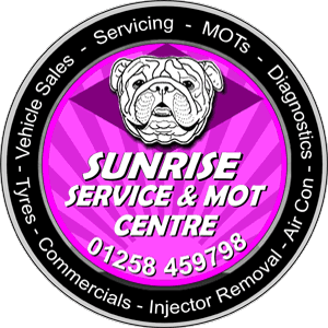 Sunrise Service and MOT Centre Logo - Garage in Blandford